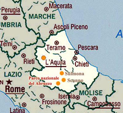 Cartina Abruzzo Umbria.Cartina Di Abruzzo