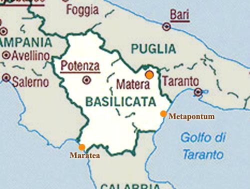 Cartina Basilicata.Cartina Di Basilicata