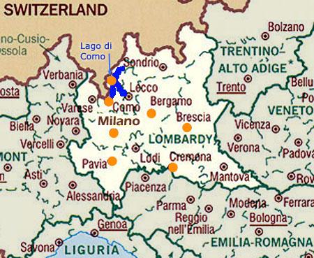 Cartina Emilia Romagna E Lombardia.Pianta Di Lombardia