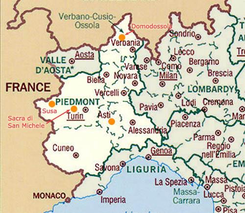 Cartina Del Piemonte Politica.Cartina Del Piemonte