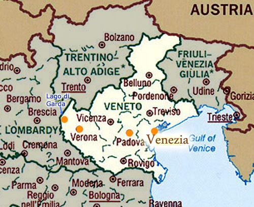 Cartina Del Veneto E Friuli.Pianta Del Veneto