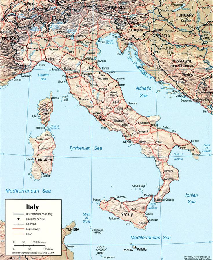 Relief d'Italie