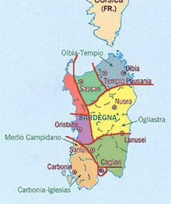 Carte Italie Et Sardaigne.La Sardaigne Tourisme Et Voyage