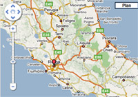 carte routi�re et interactive de l'Italie