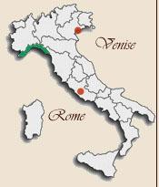 Carte Italie Ligurie.Ligurie